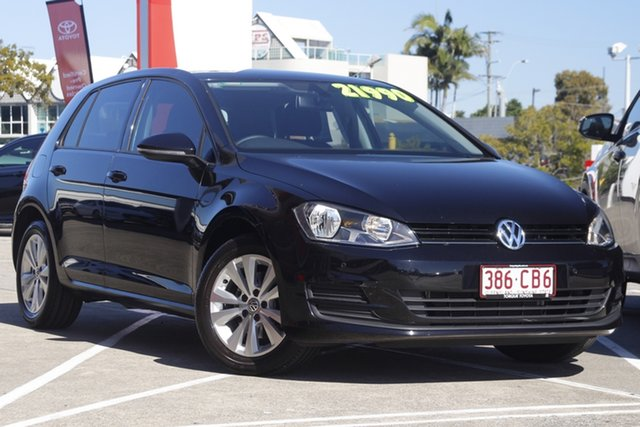 Pre-Owned Volkswagen Golf VII MY16 92TSI DSG Comfortline Albion, 2016 Volkswagen Golf VII MY16 92TSI DSG Comfortline Black 7 Speed Sports Automatic Dual Clutch