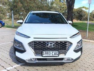 2019 Hyundai Kona OS.2 MY19 Elite 2WD White 6 Speed Sports Automatic Wagon.