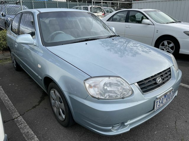 Used Hyundai Accent LS 1.6 Traralgon, 2005 Hyundai Accent LS 1.6 Blue 5 Speed Manual Hatchback