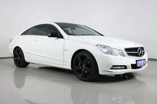 2012 Mercedes-Benz E250 207 MY11 CGI Avantgarde White 5 Speed Automatic Coupe.