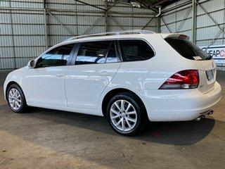 2011 Volkswagen Golf VI MY11 103TDI DSG Comfortline White 6 Speed Sports Automatic Dual Clutch Wagon