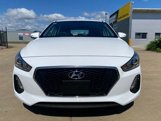 2017 Hyundai i30 PD MY18 Active D-CT White/081217 7 Speed Sports Automatic Dual Clutch Hatchback