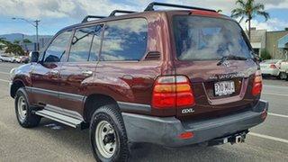1999 Toyota Landcruiser FZJ105R GXL Maroon 4 Speed Automatic Wagon.