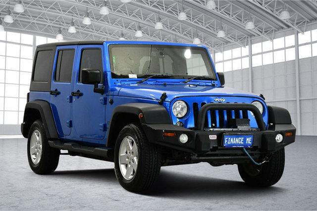 Used Jeep Wrangler JK MY2016 Sport Victoria Park, 2016 Jeep Wrangler JK MY2016 Sport Blue 5 Speed Automatic Softtop