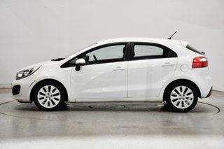 2013 Kia Rio UB MY14 S White 4 Speed Sports Automatic Hatchback.