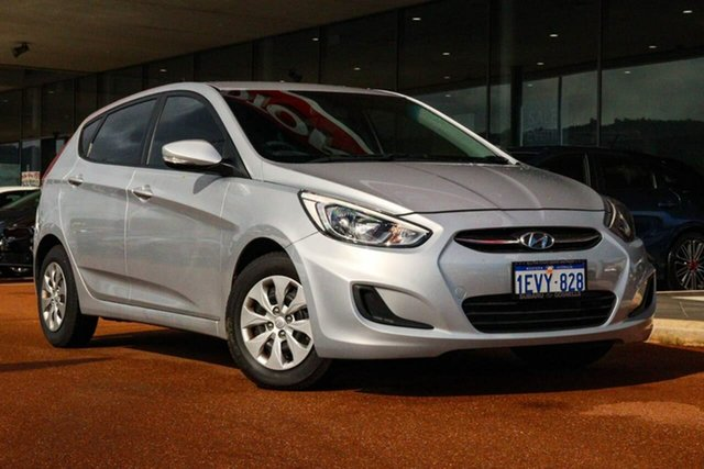 Used Hyundai Accent RB2 MY15 Active Gosnells, 2015 Hyundai Accent RB2 MY15 Active Silver 4 Speed Sports Automatic Hatchback