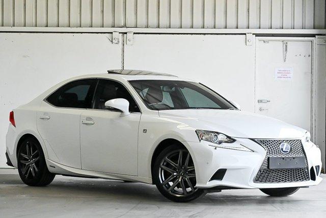 Used Lexus IS AVE30R IS300h F Sport Laverton North, 2014 Lexus IS AVE30R IS300h F Sport White 1 Speed Constant Variable Sedan Hybrid