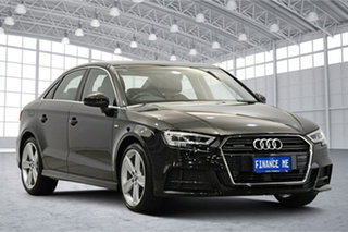 2017 Audi A3 8V MY17 S Line S Tronic Quattro Mythos Black 7 Speed Sports Automatic Dual Clutch Sedan.