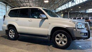 2004 Toyota Landcruiser Prado GRJ120R Grande White 5 Speed Automatic Wagon.