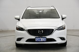 2018 Mazda 6 GL1031 Atenza SKYACTIV-Drive White 6 Speed Sports Automatic Wagon.
