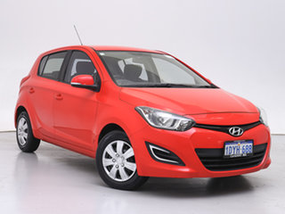 2012 Hyundai i20 PB MY12 Active Red 4 Speed Automatic Hatchback.