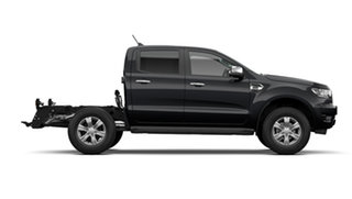 2021 Ford Ranger PX MkIII 2021.25MY XLT Double Cab Shadow Black 10 Speed Sports Automatic.