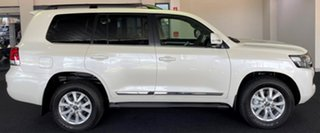 2021 Toyota Landcruiser VDJ200R Sahara Horizon White 6 Speed Sports Automatic Wagon.