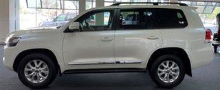 2021 Toyota Landcruiser VDJ200R Sahara Horizon White 6 Speed Sports Automatic Wagon
