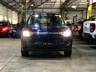 2013 Mitsubishi Outlander ZJ MY13 ES 2WD Blue 6 Speed Constant Variable Wagon.