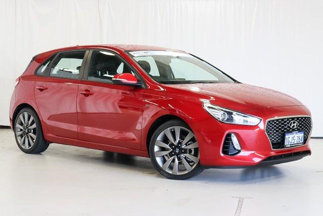 Used Hyundai i30 PD MY18 SR Wangara, 2017 Hyundai i30 PD MY18 SR Red 6 Speed Manual Hatchback