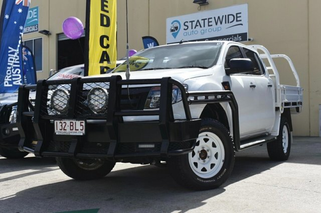 Used Ford Ranger PX XL 3.2 (4x4) Capalaba, 2012 Ford Ranger PX XL 3.2 (4x4) White 6 Speed Manual Dual Cab Chassis