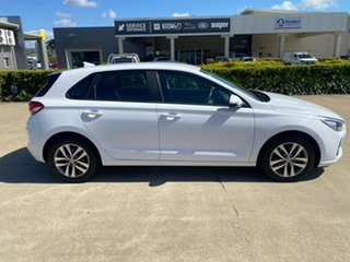 2017 Hyundai i30 PD MY18 Active D-CT White/081217 7 Speed Sports Automatic Dual Clutch Hatchback.