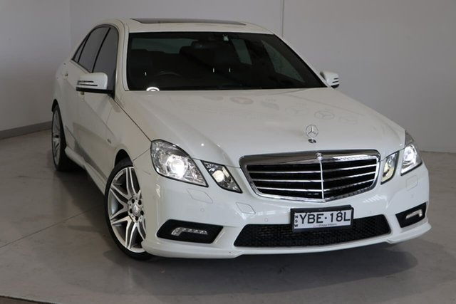 Used Mercedes-Benz E-Class W212 MY12 E250 BlueEFFICIENCY 7G-Tronic + Avantgarde Wagga Wagga, 2011 Mercedes-Benz E-Class W212 MY12 E250 BlueEFFICIENCY 7G-Tronic + Avantgarde White 7 Speed