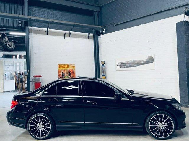 Used Mercedes-Benz C-Class W204 MY14 C250 7G-Tronic + Avantgarde Port Melbourne, 2014 Mercedes-Benz C-Class W204 MY14 C250 7G-Tronic + Avantgarde Black 7 Speed Sports Automatic