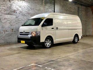 2018 Toyota HiAce KDH221R High Roof Super LWB White 4 Speed Automatic Van.