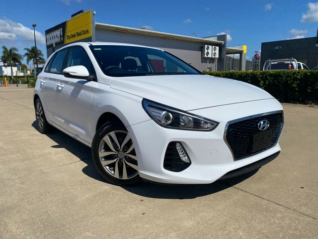 Used Hyundai i30 PD MY18 Active D-CT Townsville, 2017 Hyundai i30 PD MY18 Active D-CT White/081217 7 Speed Sports Automatic Dual Clutch Hatchback