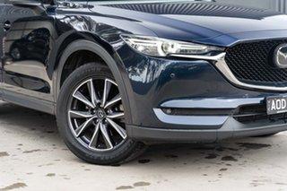 2017 Mazda CX-5 KF4W2A Akera SKYACTIV-Drive i-ACTIV AWD Deep Crystal Blue 6 Speed Sports Automatic.
