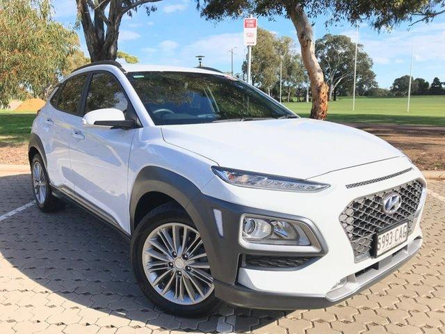 Used Hyundai Kona OS.2 MY19 Elite 2WD Adelaide, 2019 Hyundai Kona OS.2 MY19 Elite 2WD White 6 Speed Sports Automatic Wagon