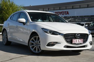 2017 Mazda 3 BN5438 SP25 SKYACTIV-Drive GT White 6 Speed Sports Automatic Hatchback.