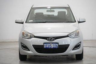 2015 Hyundai i20 PB MY16 Active Sleek Silver 4 Speed Automatic Hatchback.