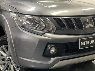 2017 Mitsubishi Triton MQ MY18 GLS Double Cab Grey 5 Speed Sports Automatic Utility.
