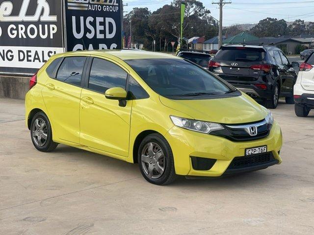Used Honda Jazz VTi Goulburn, 2015 Honda Jazz VTi Yellow Manual Hatchback