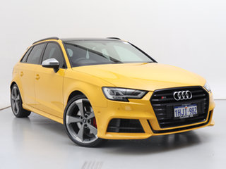 2019 Audi S3 8V MY19 2.0 TFSI Quattro Yellow 7 Speed Auto S-Tronic Hatchback.