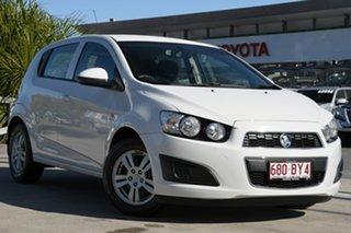 2015 Holden Barina TM MY15 CD White 6 Speed Automatic Hatchback.