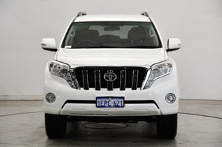 2014 Toyota Landcruiser Prado GRJ150R MY14 GXL White 5 Speed Sports Automatic Wagon.