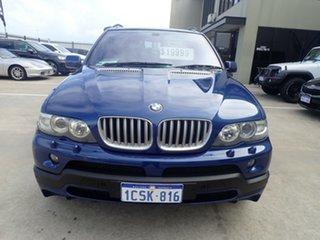 2004 BMW X5 E53 4.8IS Le Mans Blue 6 Speed Auto Steptronic Wagon.