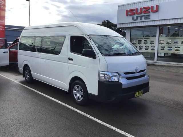 Used Toyota HiAce TRH223R Commuter High Roof Super LWB Cardiff, 2018 Toyota HiAce TRH223R Commuter High Roof Super LWB White 6 Speed Automatic Bus