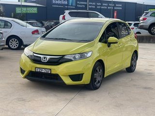 2015 Honda Jazz VTi Yellow Manual Hatchback.