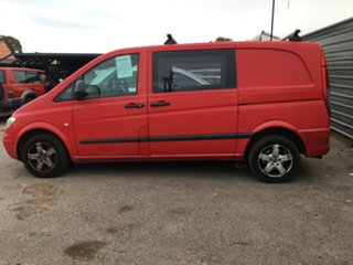 2006 Mercedes-Benz Vito 639 MY07 109CDI Low Roof Long Red 6 Speed Manual Van