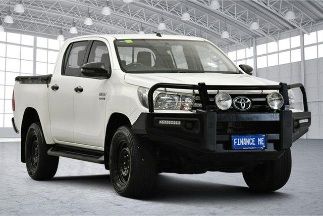 Used Toyota Hilux GUN136R SR Double Cab 4x2 Hi-Rider Victoria Park, 2017 Toyota Hilux GUN136R SR Double Cab 4x2 Hi-Rider White 6 Speed Sports Automatic Utility