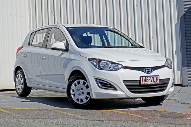 Used Hyundai i20 PB MY14 Active Springwood, 2014 Hyundai i20 PB MY14 Active White 4 Speed Automatic Hatchback