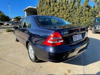 2004 Mercedes-Benz C-Class W203 MY2003 C200 Kompressor Classic Blue 5 Speed Sports Automatic Sedan