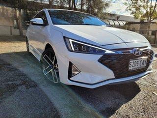 2018 Hyundai Elantra AD.2 MY19 Sport DCT White 7 Speed Sports Automatic Dual Clutch Sedan.