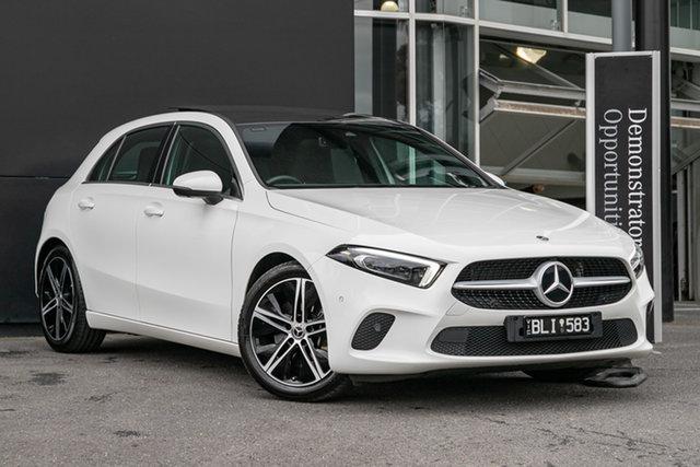 Demonstrator Mercedes-Benz A-Class W177 801+051MY A250 DCT 4MATIC Mulgrave, 2021 Mercedes-Benz A-Class W177 801+051MY A250 DCT 4MATIC Polar White 7 Speed