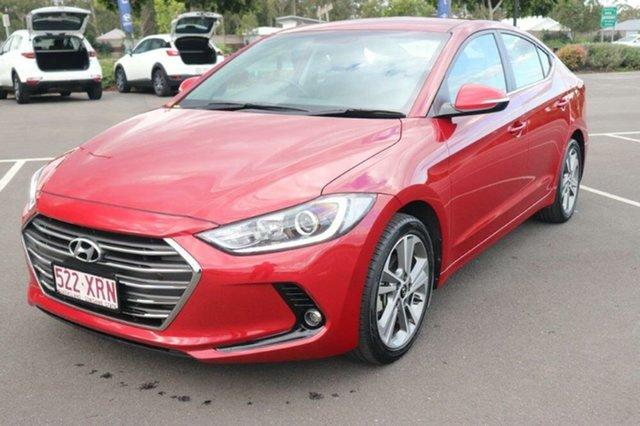 Used Hyundai Elantra AD MY18 Elite Augustine Heights, 2017 Hyundai Elantra AD MY18 Elite Scarlet Red 6 Speed Sports Automatic Sedan