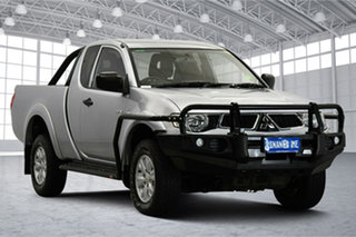 2013 Mitsubishi Triton MN MY13 GLX Club Cab Silver 5 Speed Manual Utility.