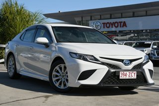 2018 Toyota Camry AXVH71R Ascent Sport Frosted White 6 Speed Constant Variable Sedan Hybrid.