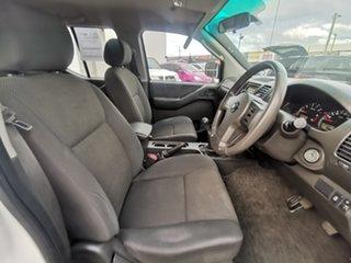 2012 Nissan Navara D40 S6 MY12 RX 4x2 White 6 Speed Manual Utility.