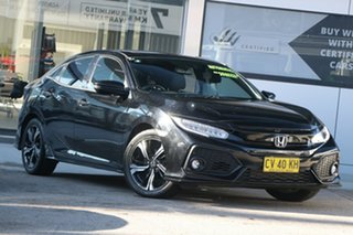 2017 Honda Civic 10th Gen MY17 RS Black 1 Speed Constant Variable Hatchback.