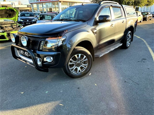 Used Ford Ranger PX Wildtrak Double Cab Seaford, 2014 Ford Ranger PX Wildtrak Double Cab Grey 6 Speed Sports Automatic Utility